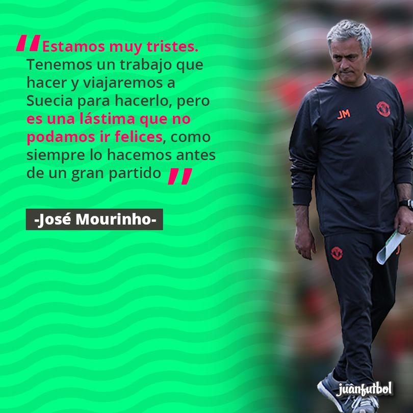 Mourinho en el entrenamiento tras los atentados en el Manchester Arena