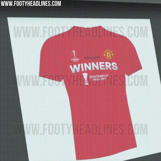 Esta es la camiseta que usaría el United si gana la Europa League