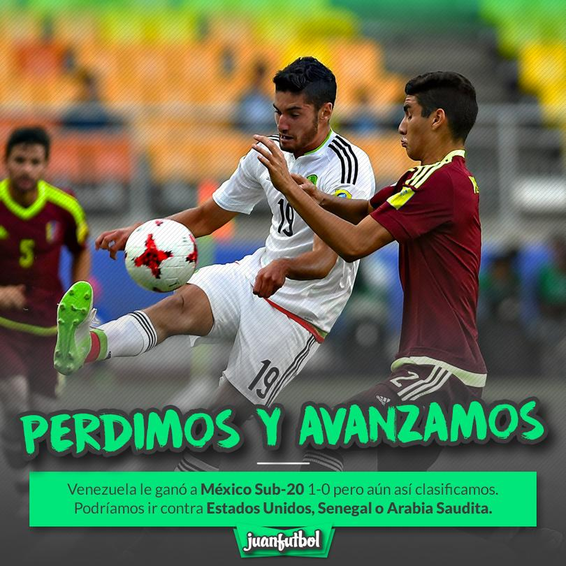 México perdió pero pasó a la siguiente fase del Mundial Sub-20