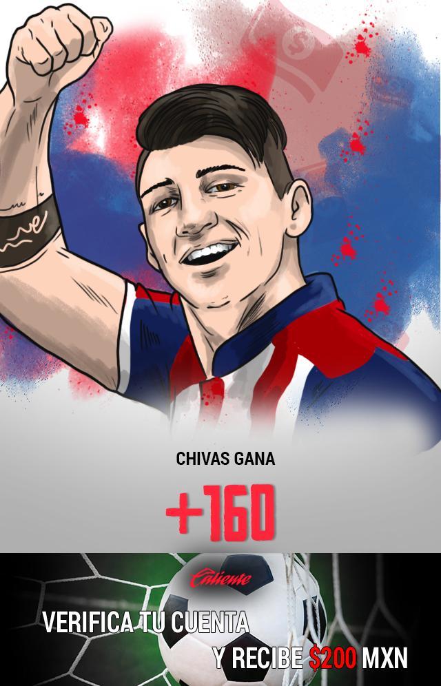 Si crees que Chivas ganará el partido de vuelta contra Tigres, apuesta en Caliente y llévate mucho dinero.