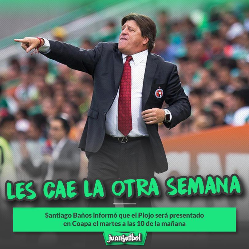 Miguel Herrera será presentado el martes como nuevo DT del América