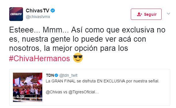 Chivas TV se burla de TDN