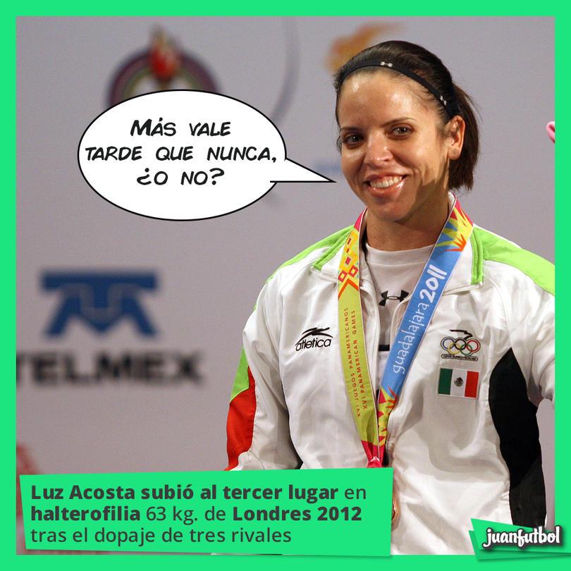 Luz Mercedes Acosta subió al tercer lugar de halterofilia categoría 63 kilogramos de Londres 2012