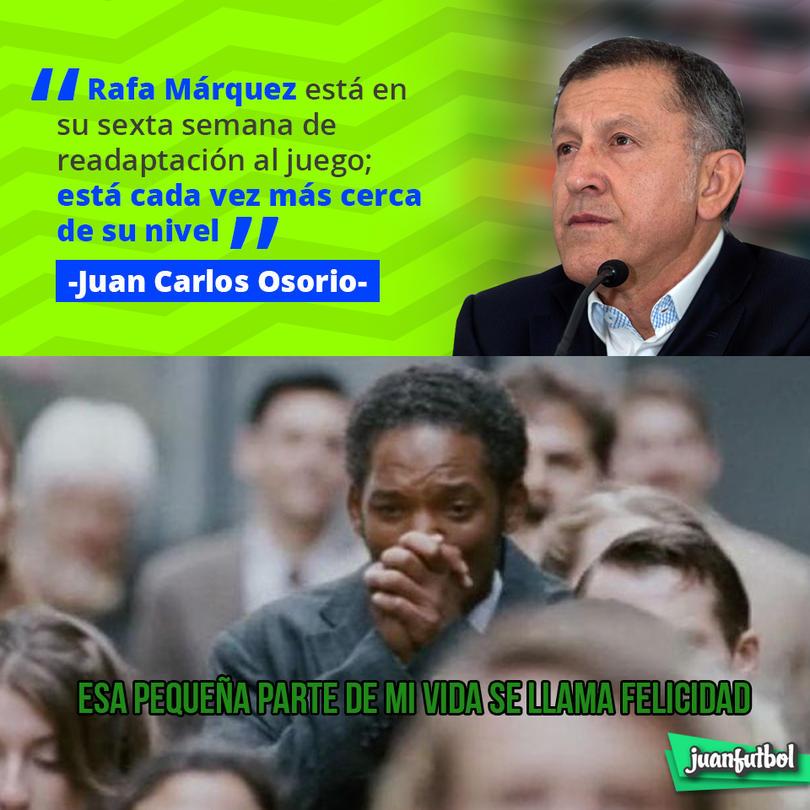 Juan Carlos Osorio destacó la recuperación de Márquez