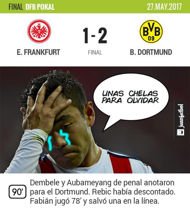 Dortmund le ganó la Pokal al Frankfurt de Marquito