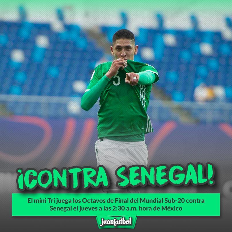 México jugará contra Senegal en los octavos