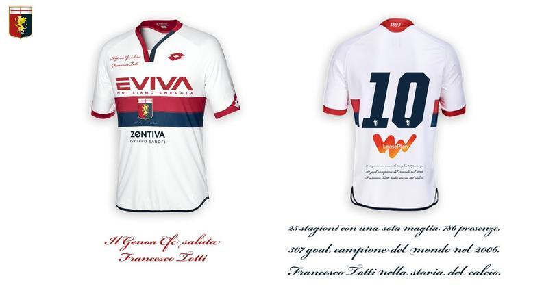 El Genoa hará homenaje en su camiseta en el retiro de Totti