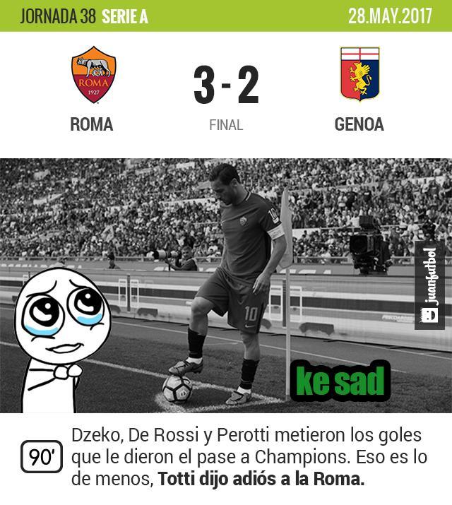 Totti se fue de la Roma