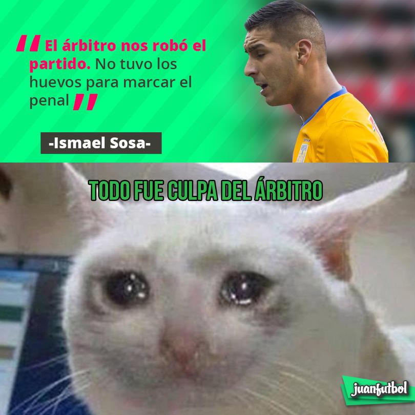 Ismael Sosa dijo que el Luis Santander fue el culpable de la derrota de Tigres