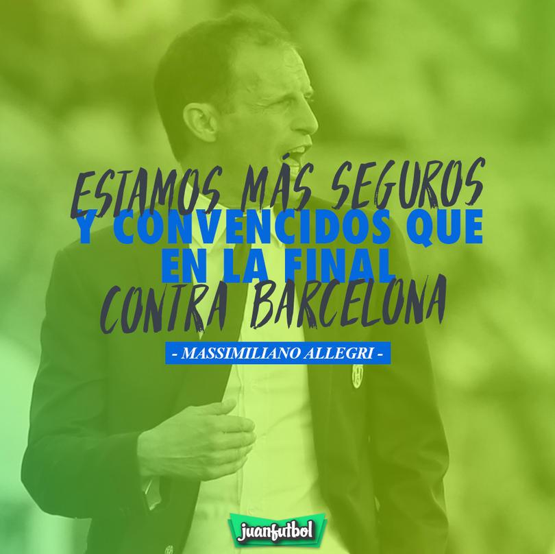 El entrenador de la Juventus ve a su equipo más fuerte que en la final vs. Barcelona