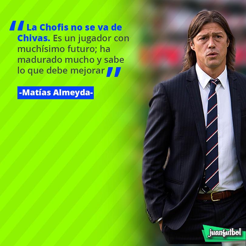 Matías Almeyda dice que la Chofis López no se irá de Chivas