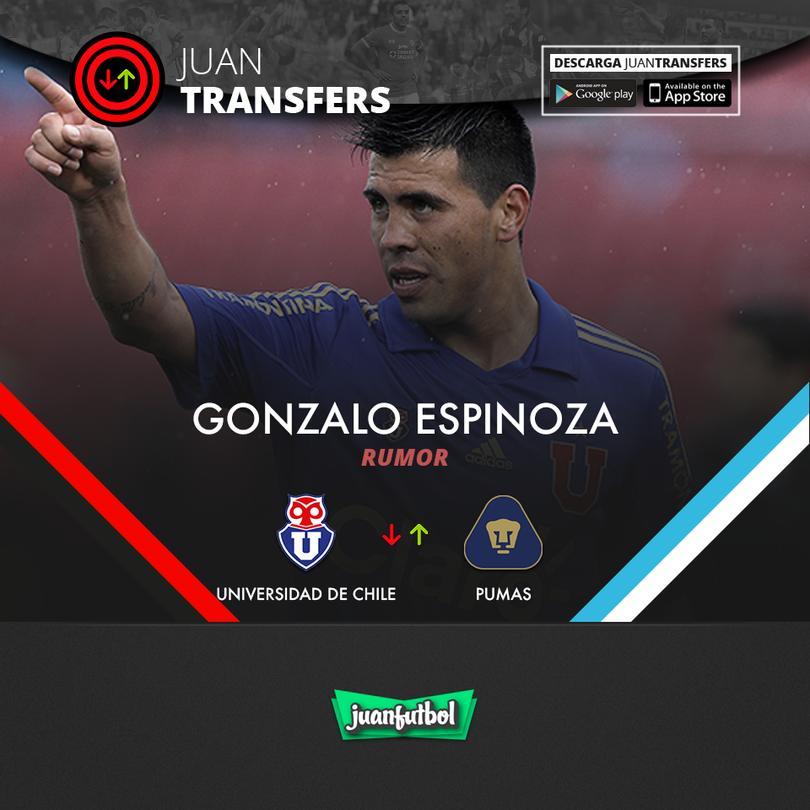 Gonzalo Espinoza suena para reforzar a Pumas.