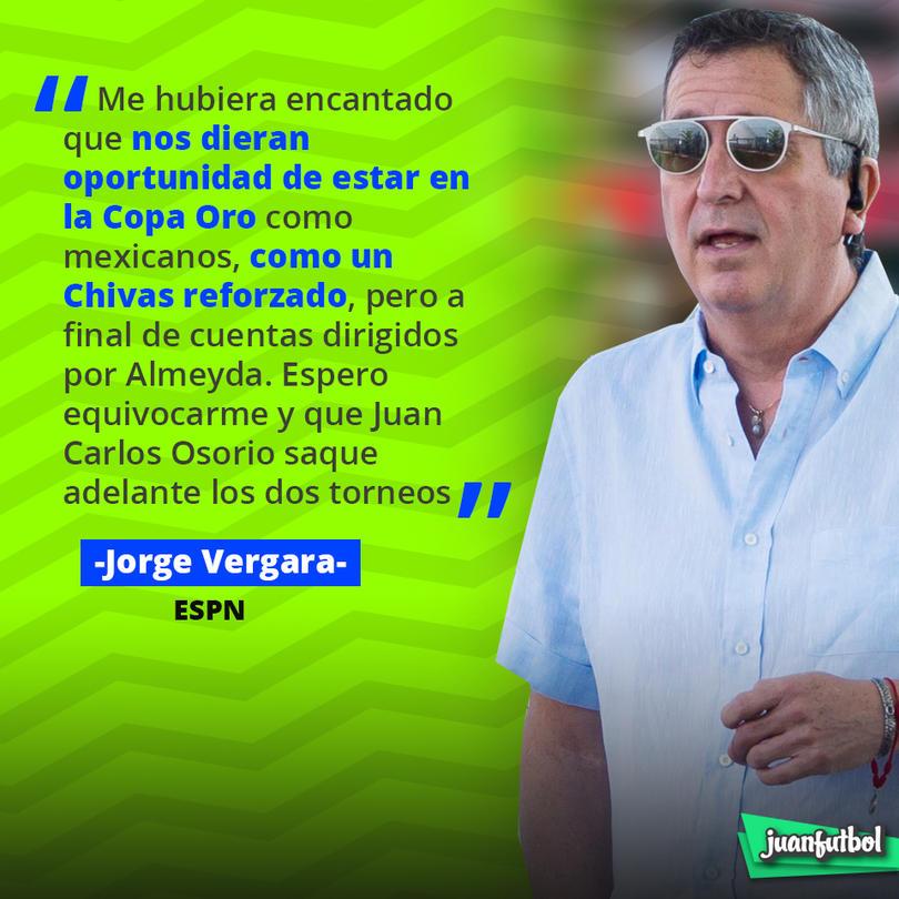 Jorge Vergara consideró que Chivas pudo haber jugado la Copa Oro con algunos refuerzos