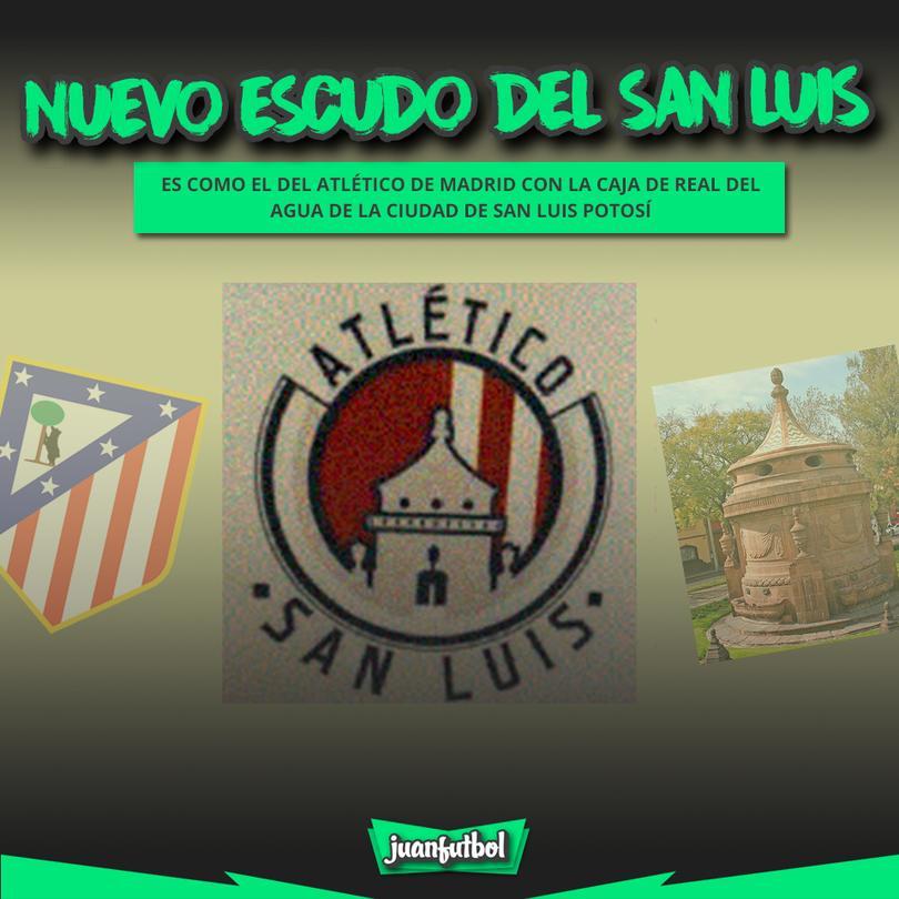 San Luis ya tiene escudo, es una combinación entre el Atlético de Madrid y uno de los elementos más emblemáticos de la ciudad.
