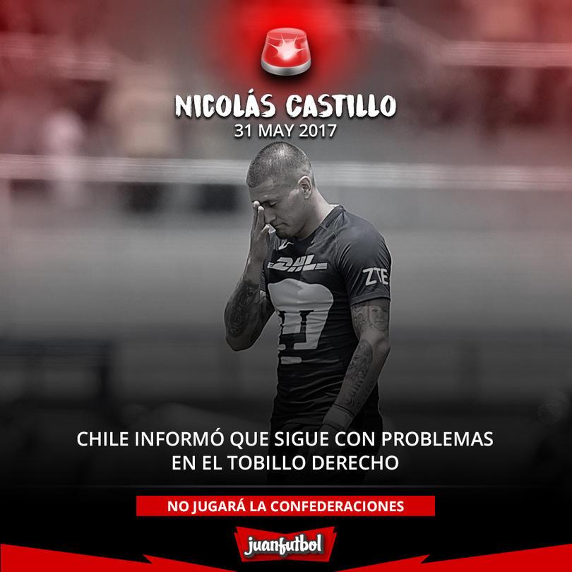 Nico Castillo no ha podido recuperarse de su lesión en el tobillo