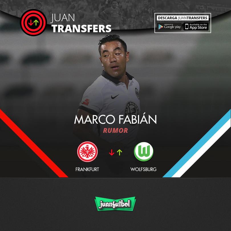 Marco Fabián podría dejar el Frankfurt por el Wofsburg, según Bild