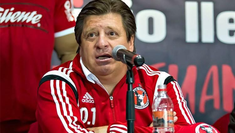 Miguel Herrera cuando era técnico de Xolos