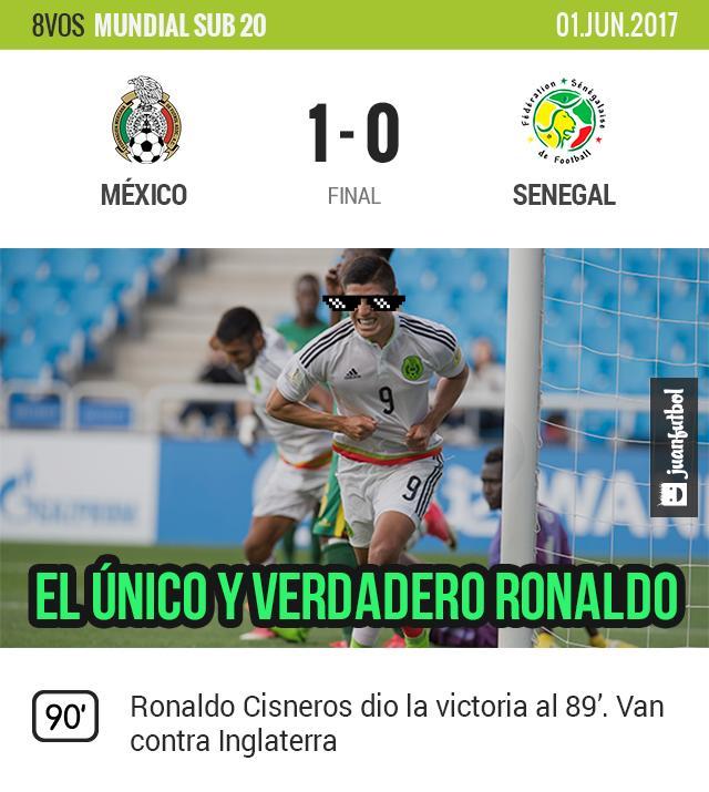México vence a Senegal