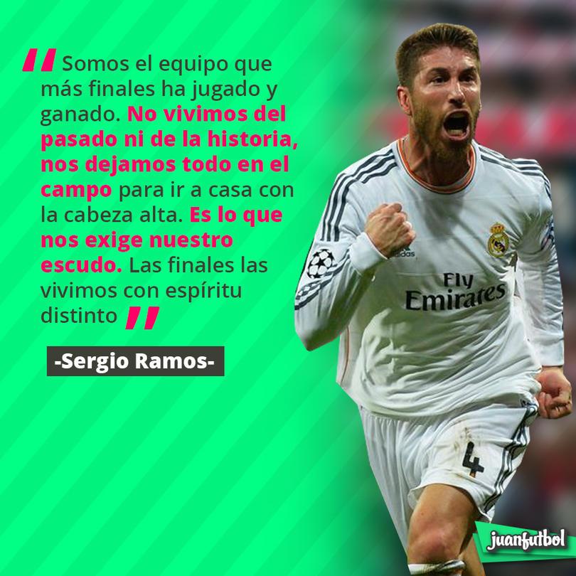 Sergio Ramos sabe que la exigencia para el Madrid será máxima en la final de Champions