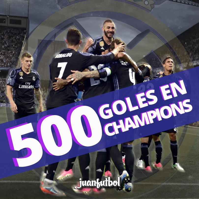 Real Madrid rebasó los 500 goles en Champions