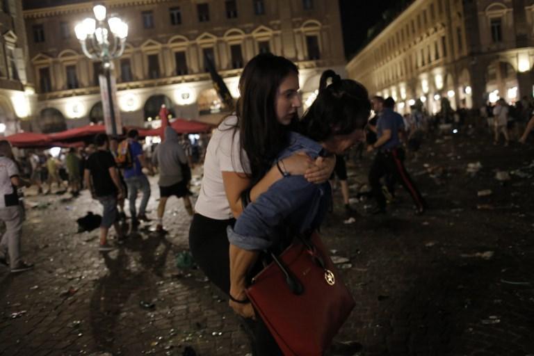 La explosión de un petardo provocó pánico en la Piazza San Carlo de Turín