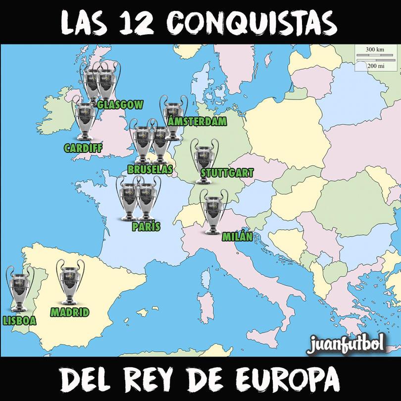 Las 12 orejonas del Real Madrid