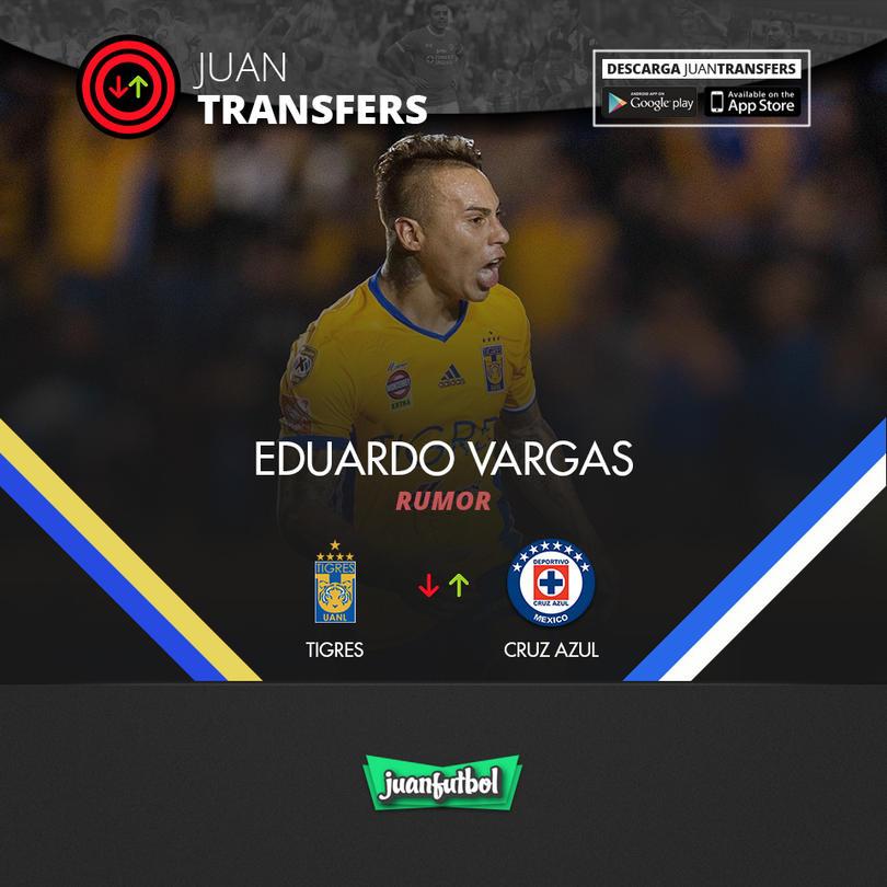 Edu Vargas sería objetivo del Cruz Azul, según Récord
