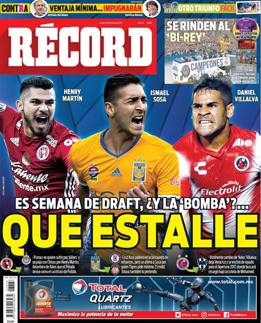 La prensa deportiva más importante del 5 de julio del 2017.