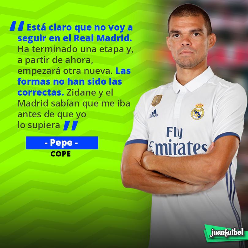 Pepe confirmó que no seguirá en el Real Madrid