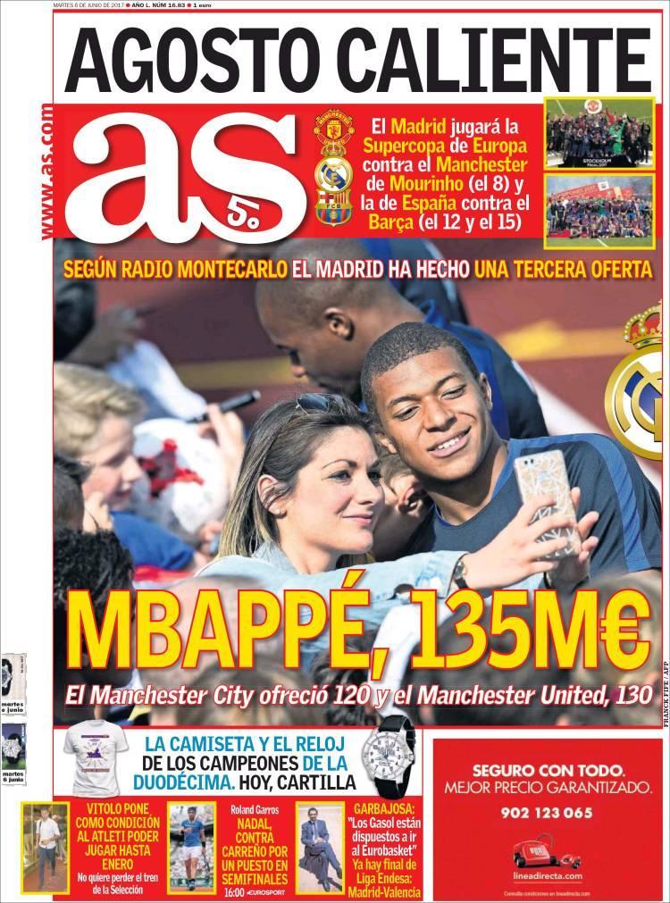 La prensa deportiva más importante del 6 de junio del 2017.