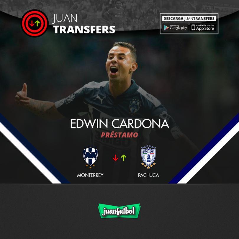 Cardona llega a Pachuca