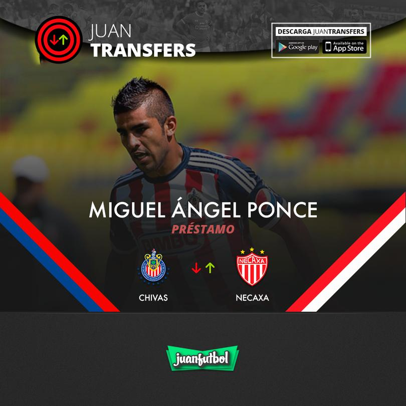 Ponce es baja de Chivas, se va al Necaxa.
