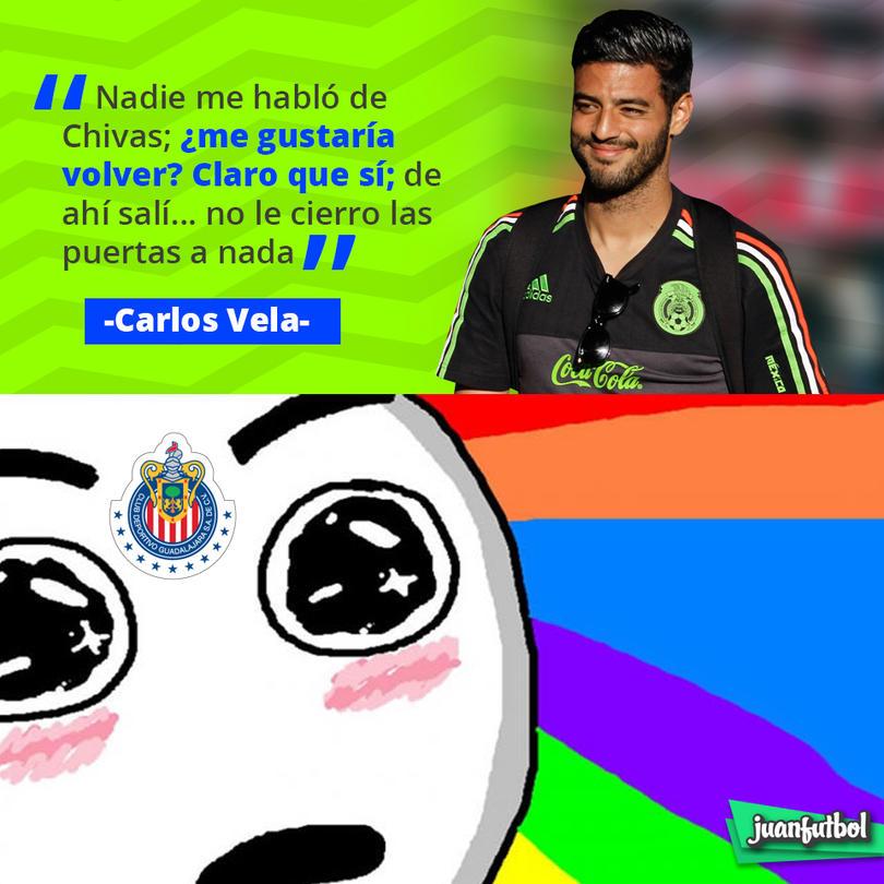 Carlos Vela no cierra las puertas a Chivas