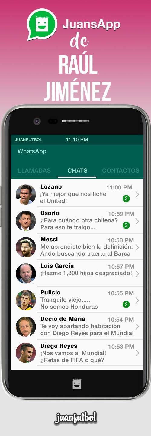 El JuansApp de Raúl Jiménez