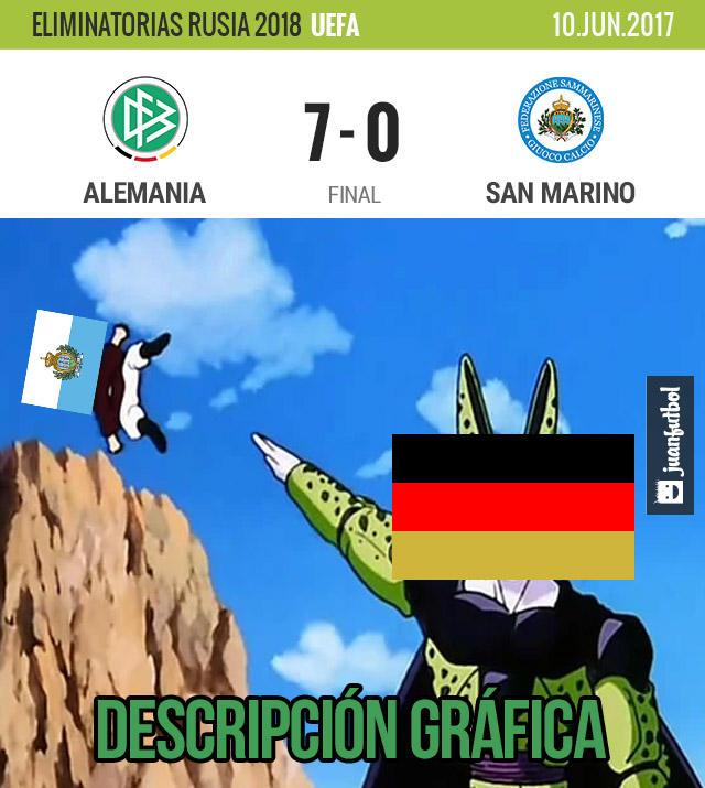 Alemania goleó 7-0 a San Marino en las eliminatorias de UEFA