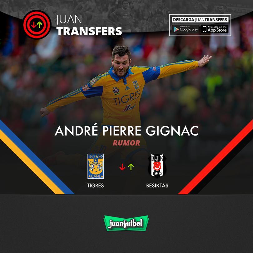 Gignac es pretendido por Besiktas en Turquía.