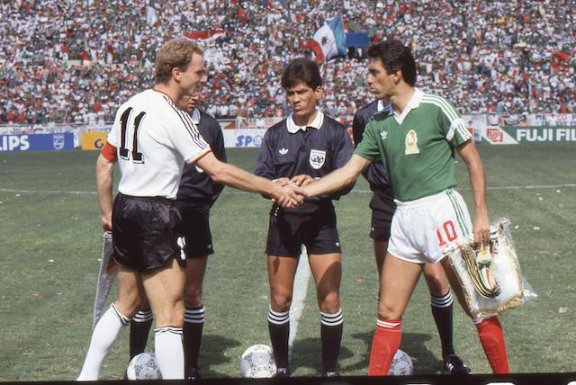 México vs Alemania en el Mundial de 1986.