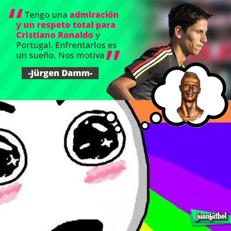 Así habló Jürgen Damm del juego vs. Portugal