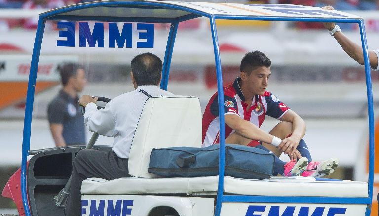 Ángel Zaldívar sufrió una lesión en el tobillo izquierdo