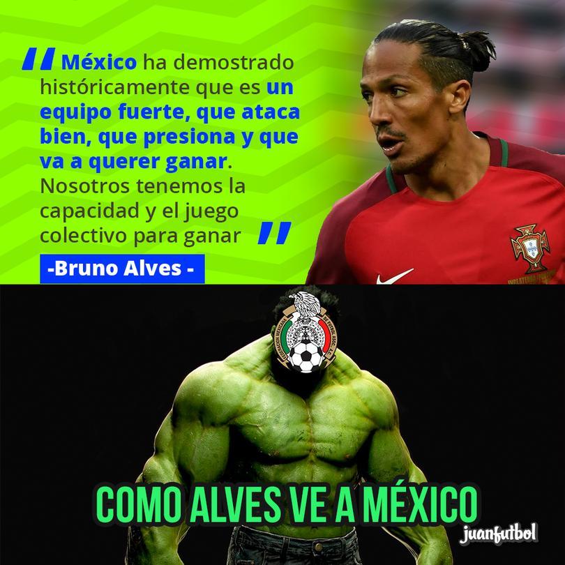 Bruno Alves halagó a México