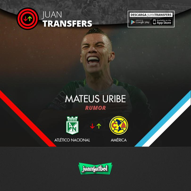 Mateus Uribe suena para llegar al Ame