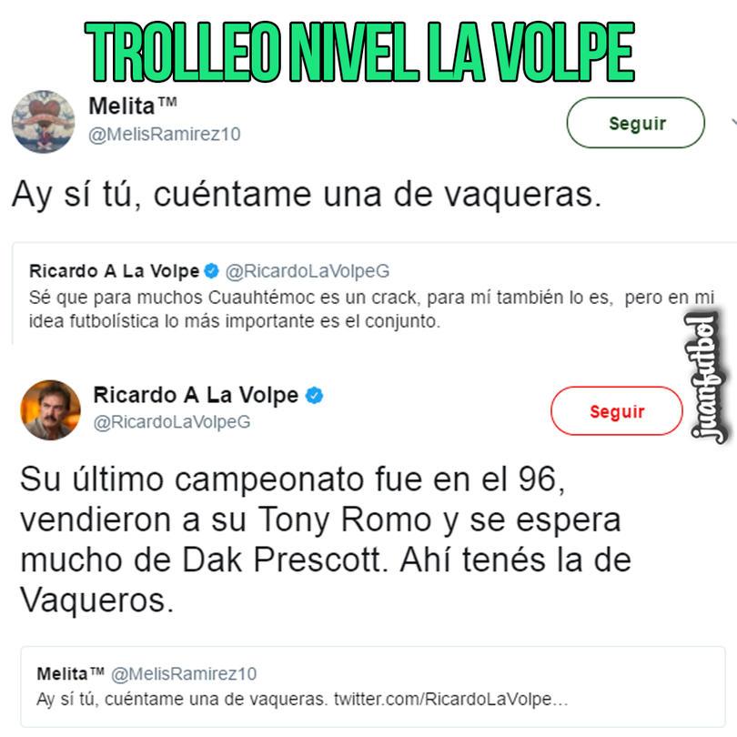 La Volpe aplicó un trolleo épico a usuaria de twitter que quiso molestarlo
