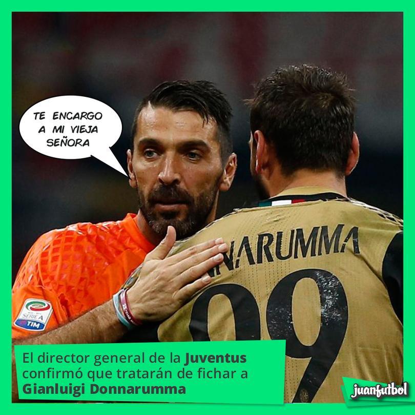 La Juventus irá por Donnarumma