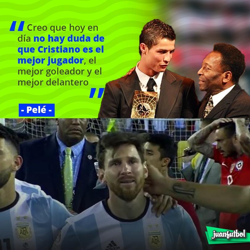 Pelé dice que Cristiano es el mejor de todos