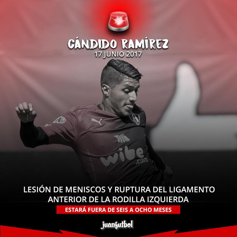 Cándido Ramírez sufrió una fuerte lesión en la rodilla izquierda