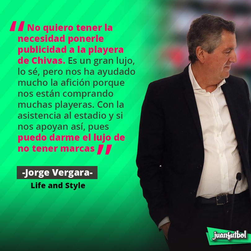 Jorge Vergara quiere un jersey limpio de patrocinadores