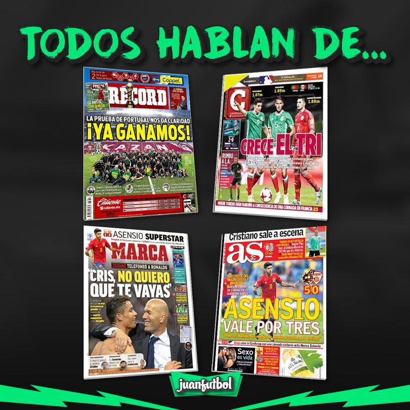 Así las portadas de México y el mundo