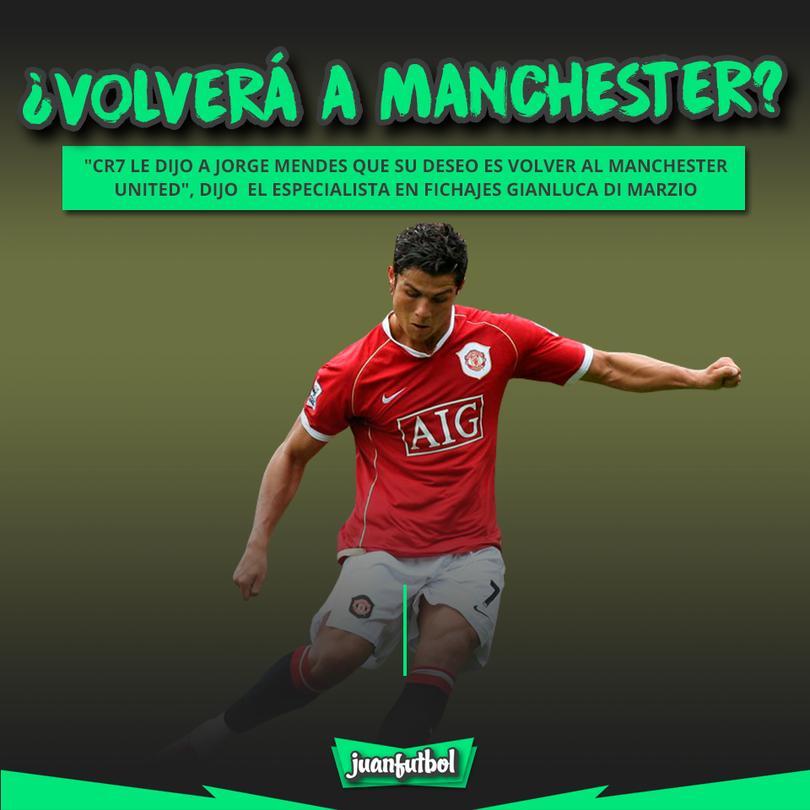 Cristiano Ronaldo quiere volver al United.