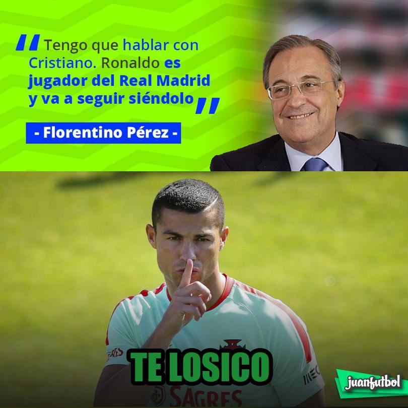 Florentino dice que CR7 seguirá en el Madrid