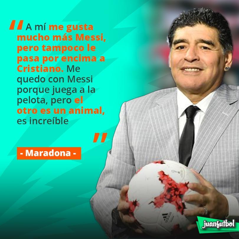 Maradona dice que Messi es mejor que CR7 pero no por mucho